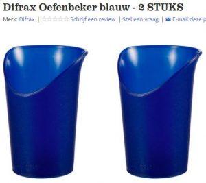 Bol.com difrax oefenbeker blauw 2 stuks zonder reviews