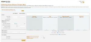 Screenshot Amazon Revenue Calculator